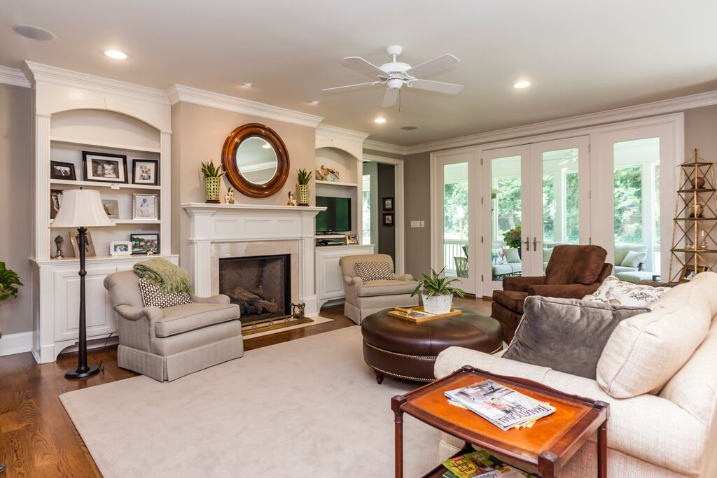 custom home in raleigh | living room with open floor plan